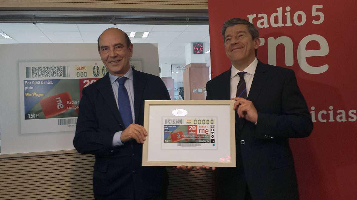 Radio 5 Actualidad - Radio 5, en el cupón de la ONCE - 05/11/14 - Escuchar ahora