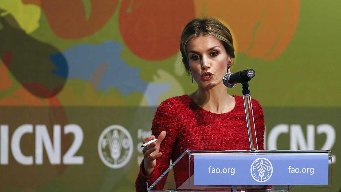 Diario de las 2 - La reina Letizia habla ante la FAO