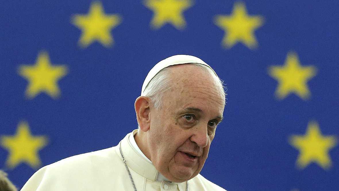 """Diario de las 2 - El papa critica """"Una Europa envejecida"""" en el Parlamento Europeo - Escuchar ahora"""