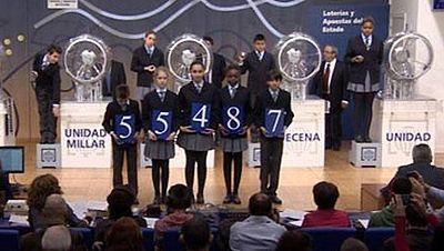 """Diario de las 2 - El primer premio del Niño, íntegro a Leganés: """"Hacía mucha falta"""" - Escuchar ahora"""