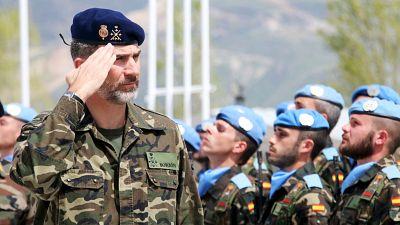 Boletines RNE - El rey con las tropas en Líbano - 08/04/15 - Escuchar ahora