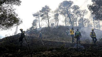 El incendio de Òdena, en Barcelona, afecta ya a 1000 hectáreas y sigue activo