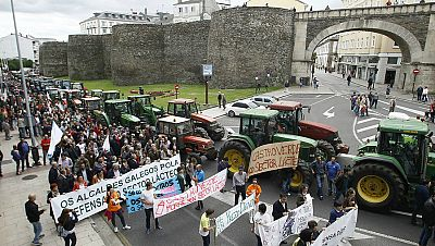 Radio 5 Actualidad - Rueda de emisoras - Los tractores siguen en las calles gallegas - Escuchar ahora