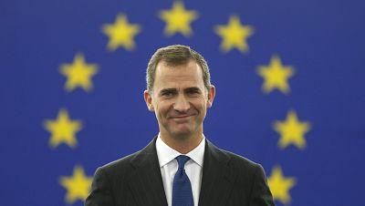"""Europa abierta en Radio 5 - El rey, ante el Parlamento de Estrasburgo: """"Europa puede contar con una España unida y orgullosa de su diversidad"""" - 07/10/15 - Escuchar ahora"""