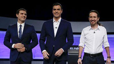 Las ma�anas de RNE - S�nchez, Rivera e Iglesias, primer debate electoral  - Escuchar ahora
