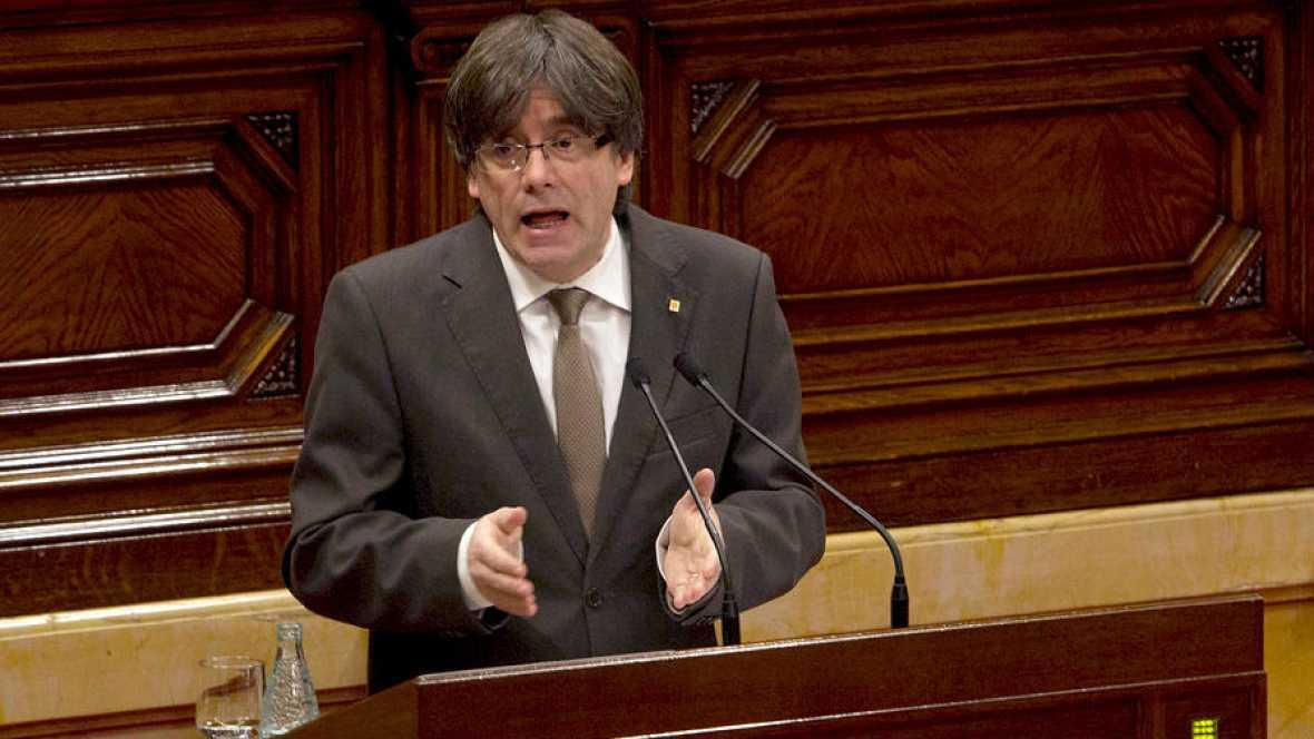 """Diario de las 2 - Puigdemont: """"Trabajaré para que Cataluña sea una república independiente""""- Escuchar ahora"""