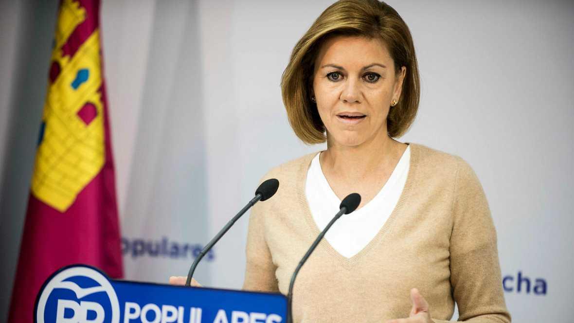 Informativos fin de semana - 14 horas: Cospedal: un gobierno con grupos independentistas puede pesar como una losa - Escuchar ahora
