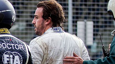"""Fernando Alonso: """"Estoy bien, un poco decepcionado, el destrozo del coche es grande"""""""