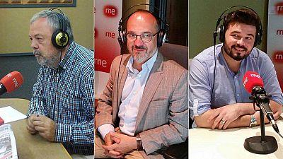 Las mañanas de RNE - Entrevistas electorales: Pedro Azpiazu (PNV), Carles Campuzano (CDC) y Gabriel Rufián (ERC) - Escuchar ahora