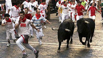 Radio 5 Actualidad - Así ha sonado el primer encierro de los Sanfermines  2016 con toros de Fuente Ymbro - Escuchar ahora