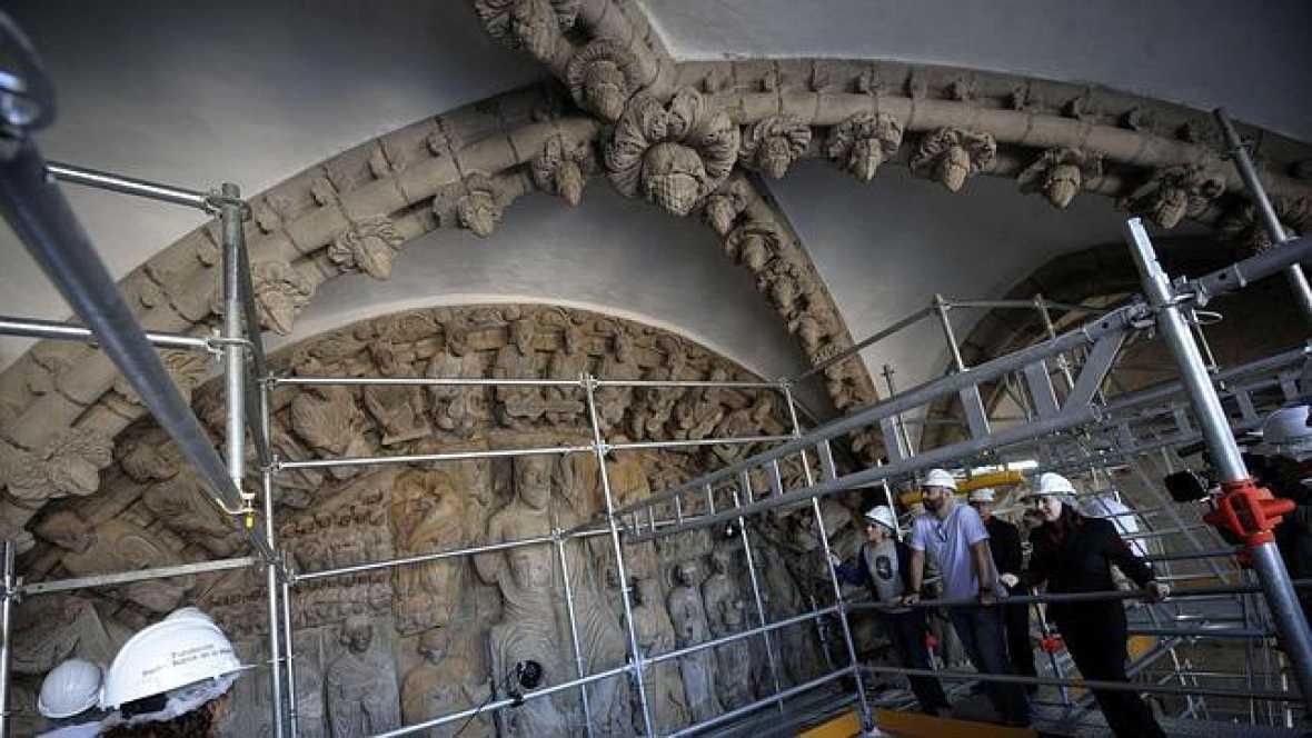 Marca España - El Pórtico de la Gloria de la catedral compostelana - 30/09/16