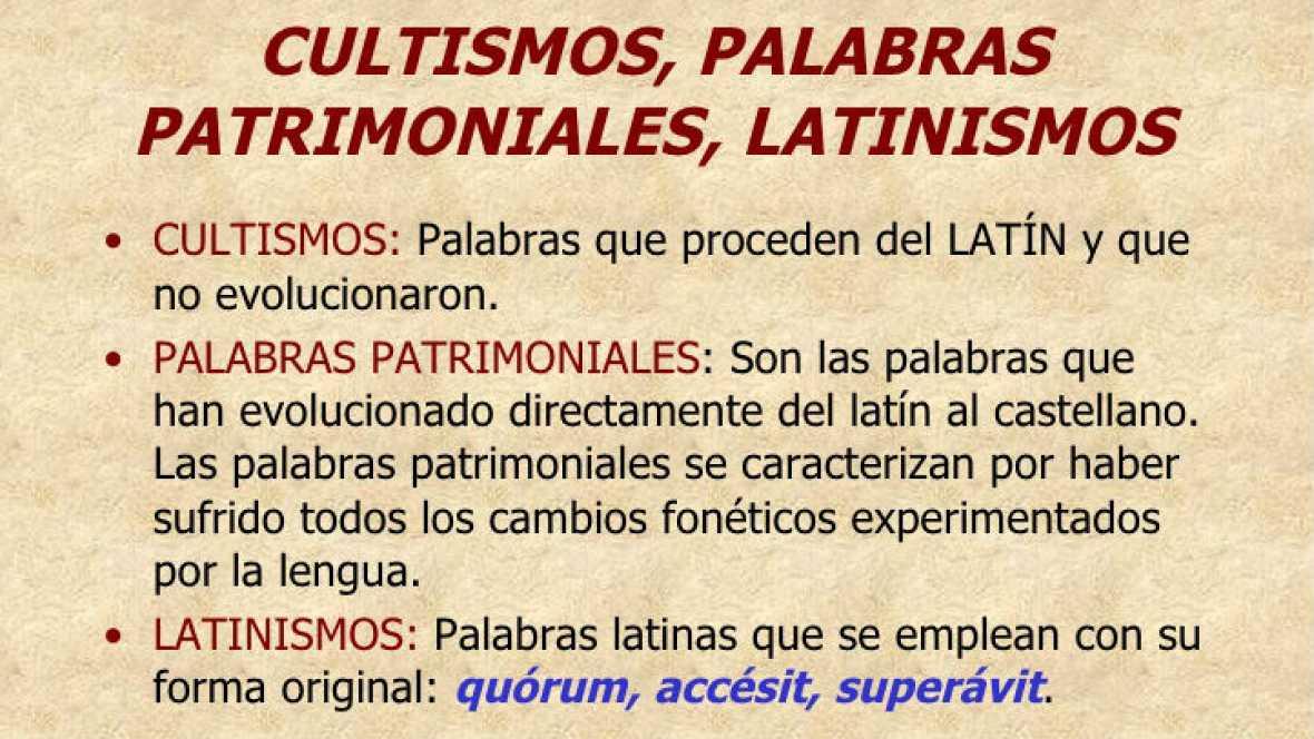 El palabrero - Palabras patrimoniales, cultismos y semicultismos - 01/10/16 - Escuchar ahora
