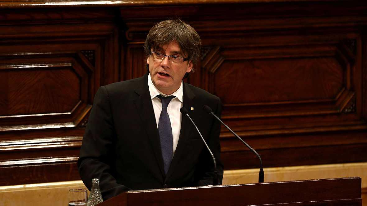 Boletines RNE - Puigdemont apela a la oposición a buscar el acuerdo y el entendimiento - 05/10/16 - Escuchar ahora