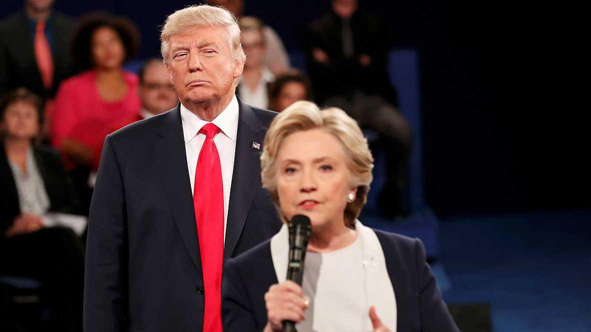 Las mañanas de RNE - Los comentarios sexistas de Trump centran el debate televisado con Clinton - Escuchar ahora