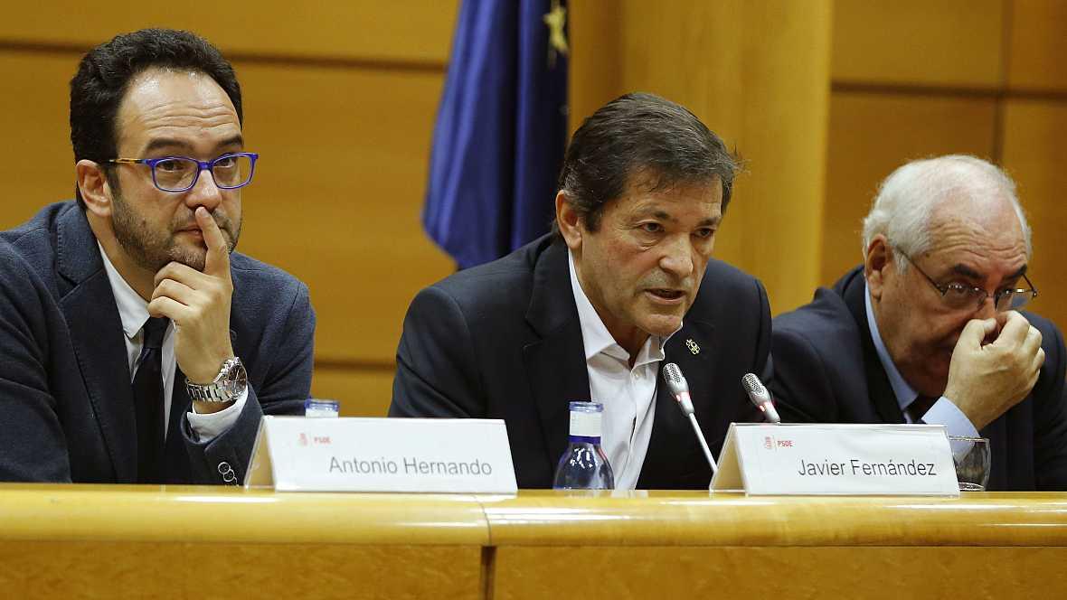 Boletines RNE - Javier Fernández insiste en que no alternativa a un gobierno del PP - 18/10/16 - Escuchar ahora