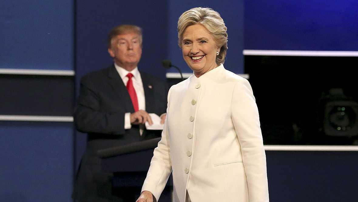 Las mañanas de RNE - Hillary Clinton gana el último debate con Donald Trump - Escuchar ahora