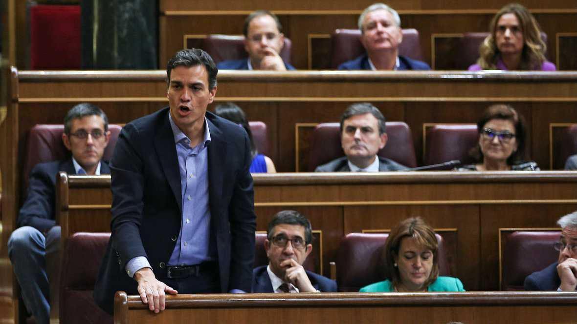 Informativos fin de semana - España a las 8 - Pedro Sánchez convoca a la prensa antes de la investidura y podría barajar la entrega de su acta de diputado - Escuchar ahora