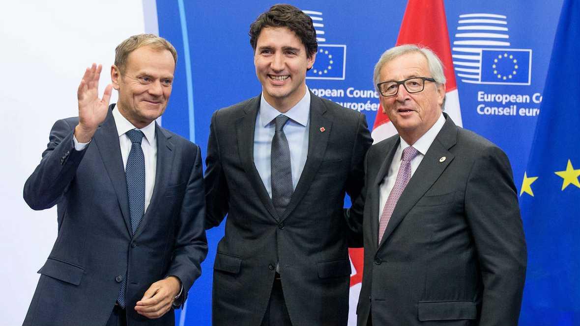 Firma en Bruselas del CETA con Canadá con protestas en la calle - Escuchar ahora