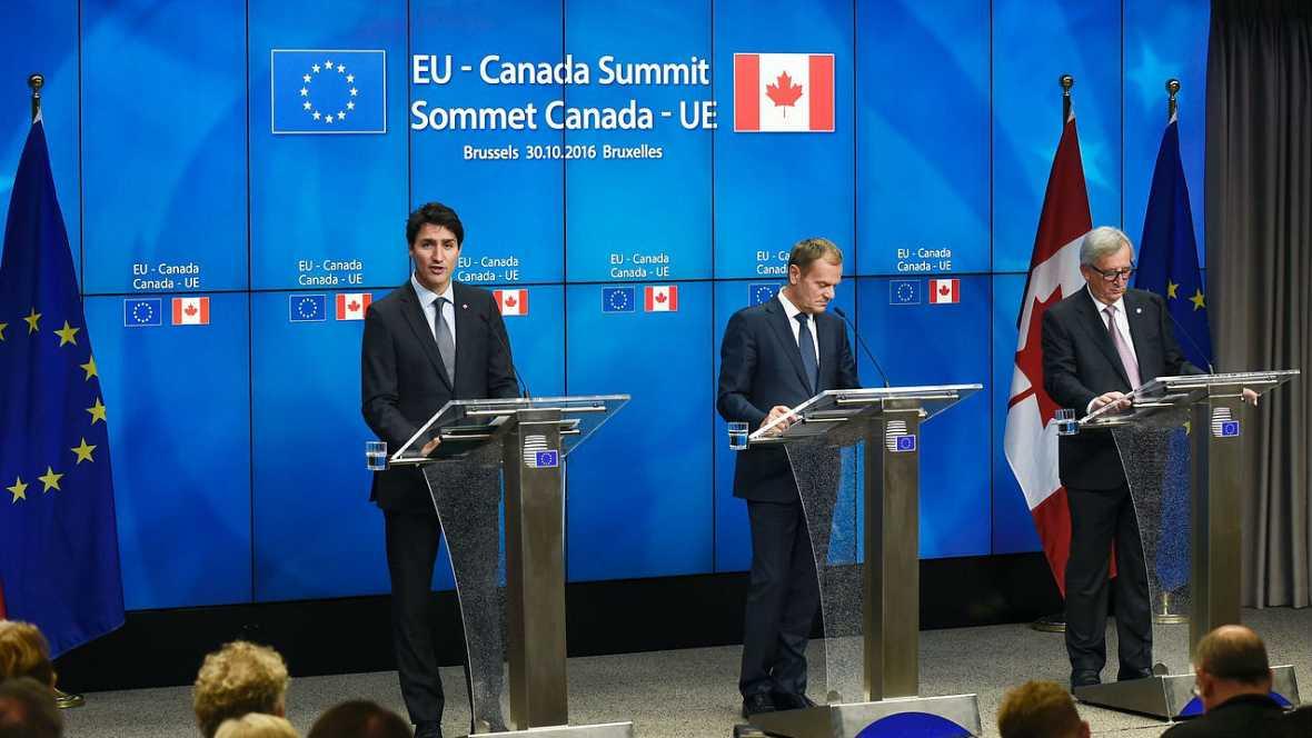 Informativos fin de semana - 24 horas - Bruselas celebra el CETA como anticipo del TTIP - Escuchar ahora