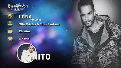 """Eurovisión 2017 - Nito canta """"Luna"""""""