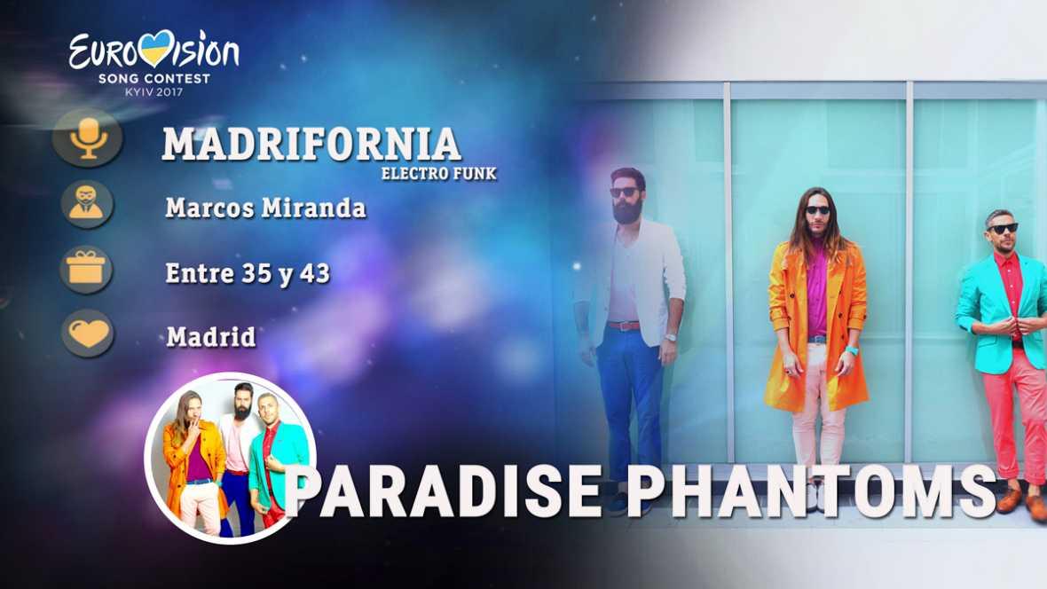"""Eurovisión 2017 - Paradise Phantoms canta """"Madrifornia"""""""