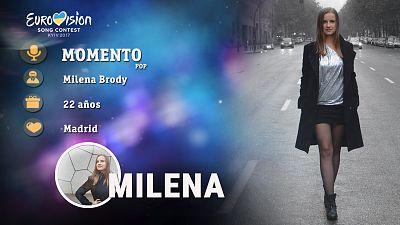 """Eurovisión 2017 - Milena Brody canta """"Momento"""""""