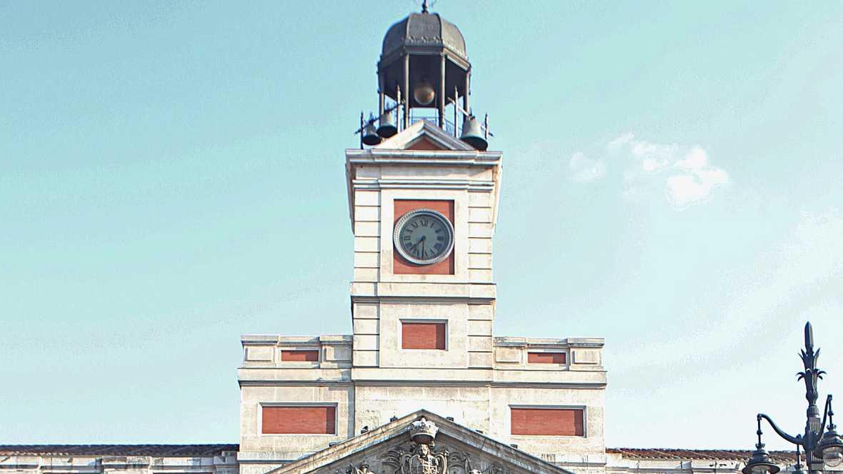 Marca espa a nochevieja con el reloj de la puerta del for El reloj de la puerta del sol