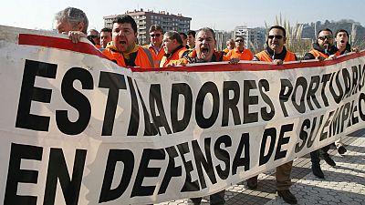 Diario de las 2 - Estibadores de varios países apoyan a los españoles en Algeciras - Escuchar ahora