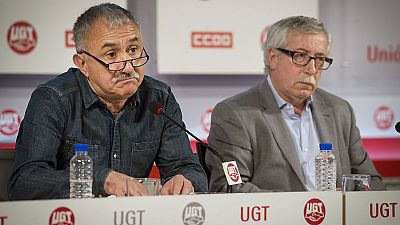 """Las mañanas de RNE - Toxo y Álvarez reconocen que la patronal """"no ha querido hacer una negociacio normal"""" - Escuchar ahora"""