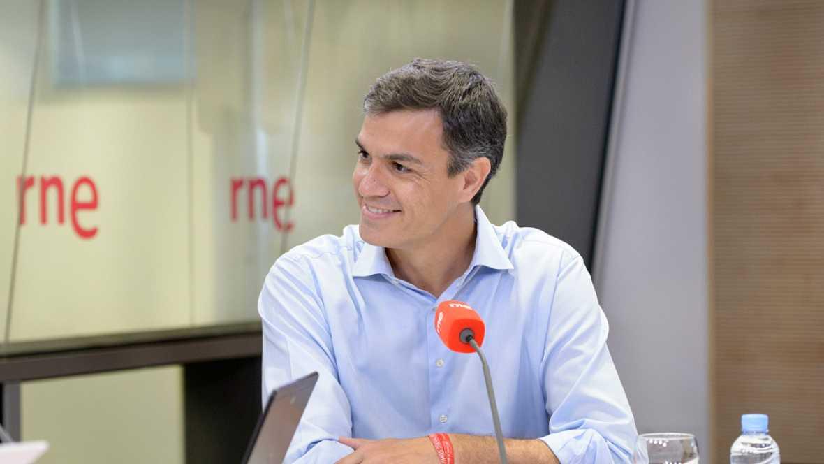 """Radio 5 Actualidad - Pedro Sánchez: """"La cuestión es que uno no puede esconder a los militantes"""" - Escuchar ahora"""