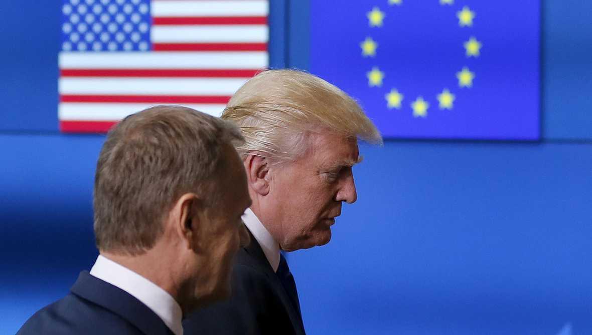 Europa abierta - Trump viaja a Bruselas y pone a prueba la relación trasatlántica - escuchar ahora