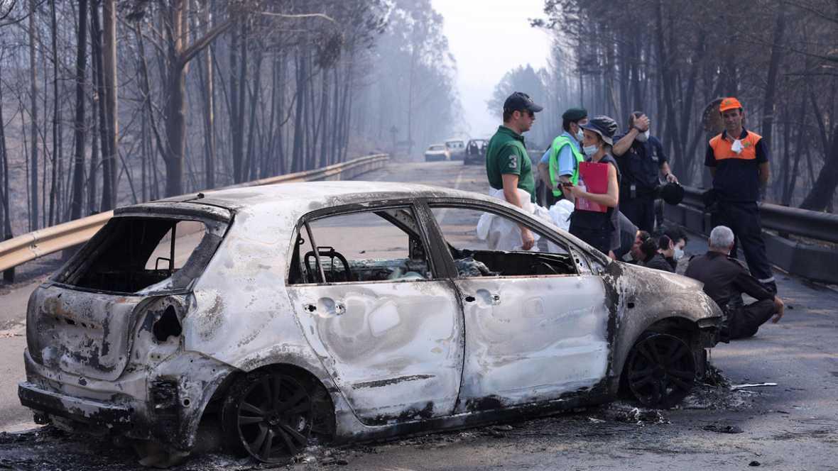 Desolación en Pedrógao por el trágico incendio que sigue sin control