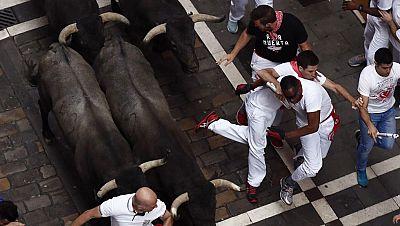 Segundo encierro largo con un toro de José Escolar vuelto