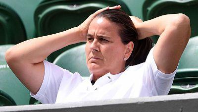 """La entrenadora de Garbiñe Muguruza en Wimbledon, Conchita Martínez, ha explicado en Radiogaceta de los Deportes que su pupila """"está a un gran nivel"""" y no la ve """"inferior a ninguna"""" del resto de tenistas que quedan en el torneo."""