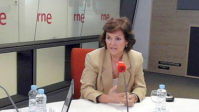 Las mañanas de RNE - Carmen Calvo (PSOE) defiende que los condenados por maltrato no vean a sus hijos - Escuchar ahora