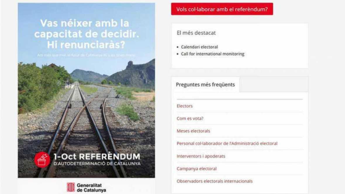 24 horas - La Guardia Civil cierra la página web del reférendum por orden de un juez - Escuchar ahora