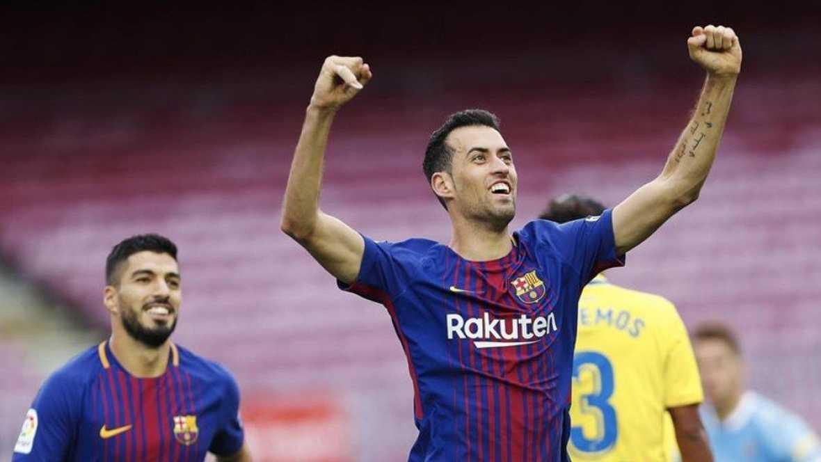 Tablero deportivo - Lo goles del F.C. Barcelona 3 UD Las Palmas 0 - Escuchar ahora