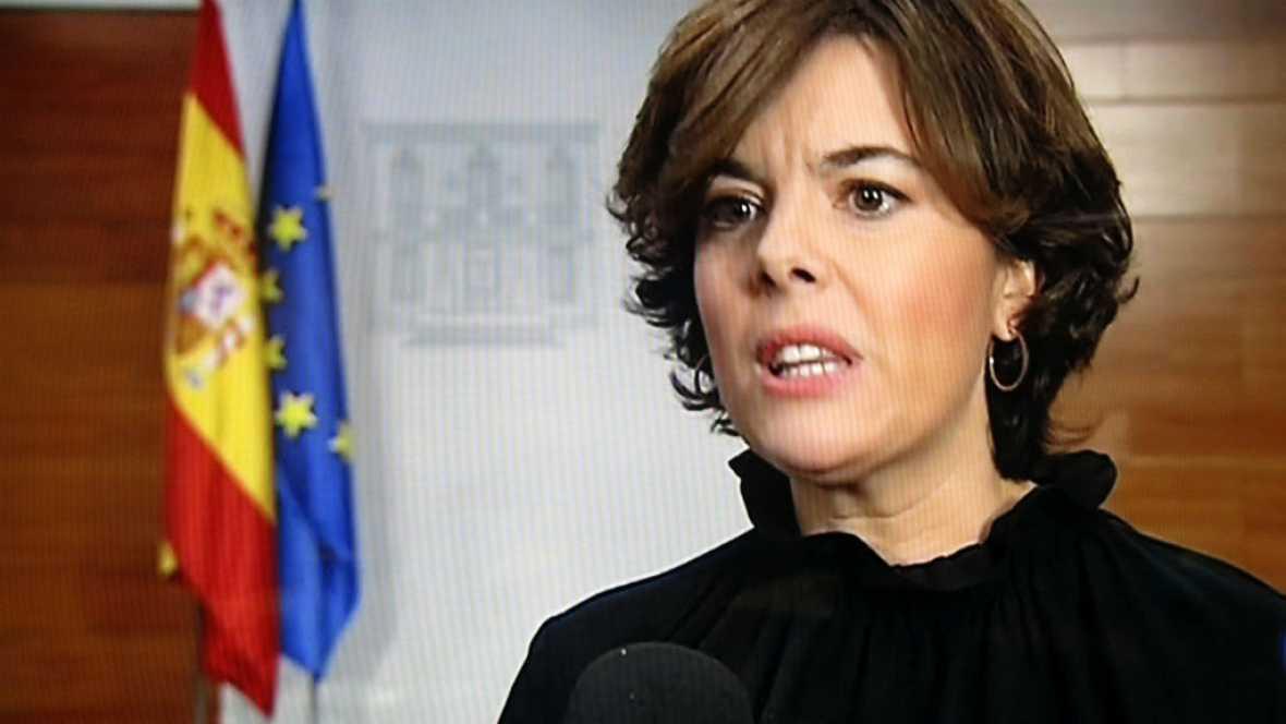 """Las mañanas de RNE - La vicepresidenta asegura que: """"Puigdemont está fuera de la ley y la cordura"""" - Escuchar ahora"""