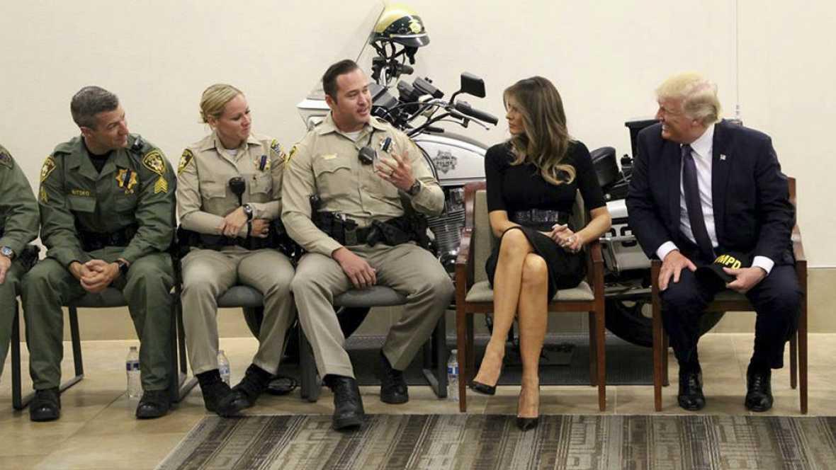 Las mañanas de RNE - Trump visita Las Vegas, que sigue conmocionada - Escuchar ahora