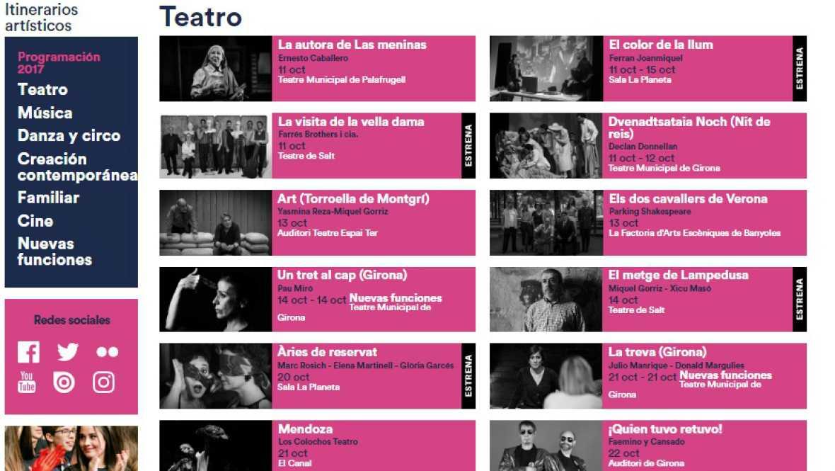 En escena - XXVI Festival de Otoño de Cataluña. Temporada Alta en Girona - 11/10/17 - Escuchar ahora
