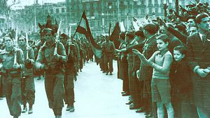Columna Durruti sale de Barcelona