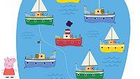 Empareja los barcos con Peppa