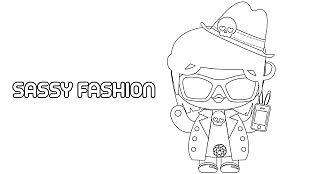 Descargable Colorea a Sassy Fashion