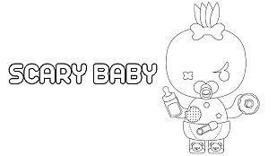 Descargable Colorea a Scary Baby