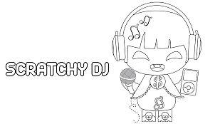 Descargable Colorea a Scratchy DJ