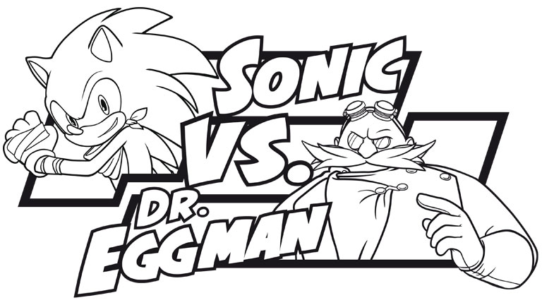 Juegos de colorear a sonic beautiful sonic free sonic for Dr eggman coloring pages