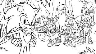 Descargable Conlorea al grupo de Sonic Boom en el bosque