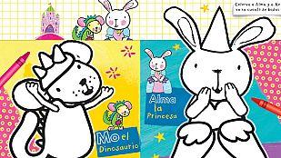 Descargable Colorea a Alma y Mo en su cuento de hadas