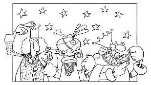 Descargable Signa y colorea a los Reyes Magos