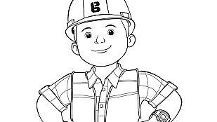 Descargable Colorea a Bob el constructor